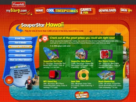 Case Study: Online Sweepstakes for Campbell's Souperstar Hawaii