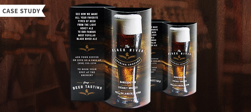 Case Study: Custom Wave Table Tent, Black River Brewing Company